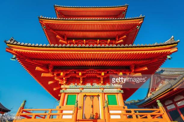 kiyomizu temple in kyoto japan - kiyomizu dera temple stock photos and pictures