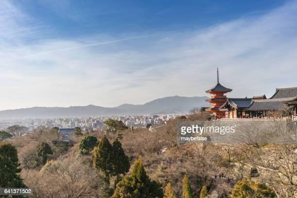 kiyomizu temple in kyoto - kiyomizu dera temple stock photos and pictures