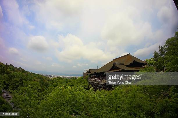 Kiyomizu temple is Historic Monuments of Ancient Kyoto UNESCO World Heritage site