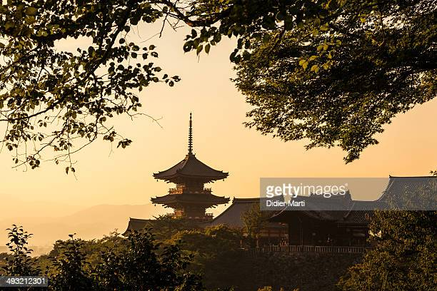 CONTENT] Kiyomizudera is one of Kyoto most famous temple in the heart of the historic town A view at sunset taken from the hills