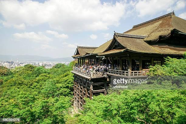 kiyomizu-dera,  japanese buddhist temple, kyoto - kiyomizu dera temple stock photos and pictures