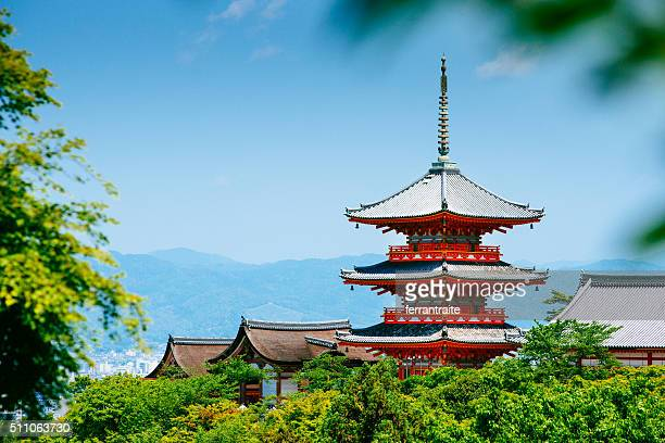 kiyomizu-dera kyoto japan - kyoto prefecture stock pictures, royalty-free photos & images