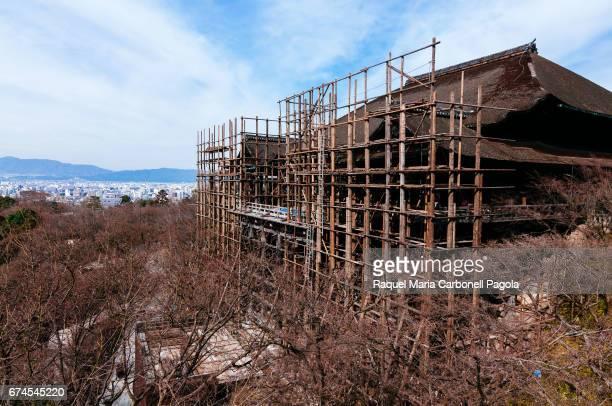 Kiyomizudera temple under renovation