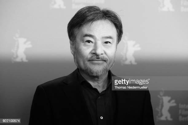 Kiyoshi Kurosawa attends the 'Foreboding' photo call during the 68th Berlinale International Film Festival Berlin at Grand Hyatt Hotel on February 21...