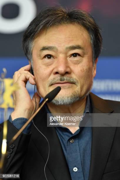 Kiyoshi Kurosawa attends the 'Foreboding' press conference during the 68th Berlinale International Film Festival Berlin at Grand Hyatt Hotel on...