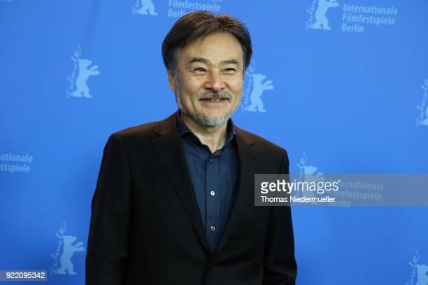 Kiyoshi Kurosawa poses at the 'Foreboding' photo call during the 68th Berlinale International Film Festival Berlin at Grand Hyatt Hotel on February...