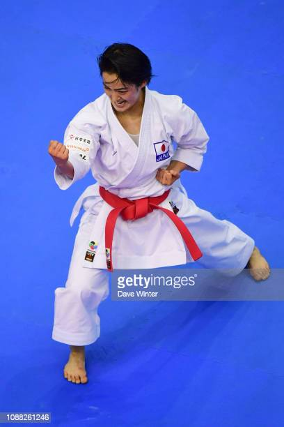 Kiyou Shimizu of Japan during Day 1 of the Karate French Open at Salle Pierre Coubertin on January 25 2019 in Paris France