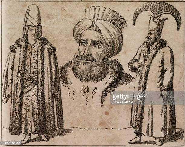 Kizlar Agha Physiognomy of the Turks Kapidschi Baschi Asiatic Turkey lithograph from Galleria universale di tutti i popoli del mondo ossia storia dei...