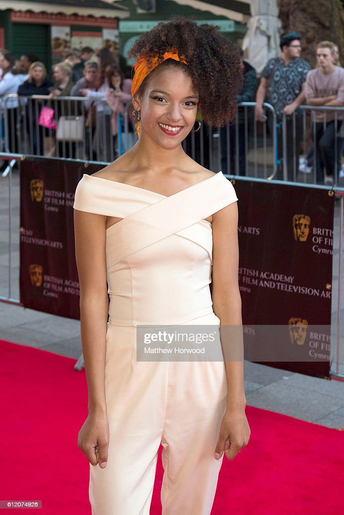 Kizzy Crawford arrives for the 25th British Academy Cymru Awards at St David's Hall on October 2, 2016 in Cardiff, Wales.