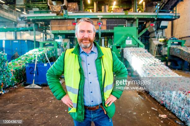 Kjell Olav Maldum, Managing director at the company Infinitum poses for a photo at the plant in Fetsund, southeastern Norway, on January 21, 2020. -...
