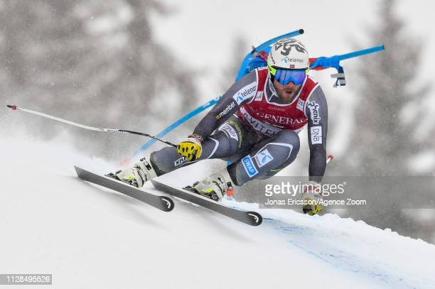Kjetil Jansrud of Norway competes during the Audi FIS Alpine Ski World Cup Men's Super G on March 3 2019 in Kvitjell Norway