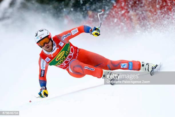 Kjetil Jansrud of Norway competes during the Audi FIS Alpine Ski World Cup Men's Super G on November 26 2017 in Lake Louise Canada