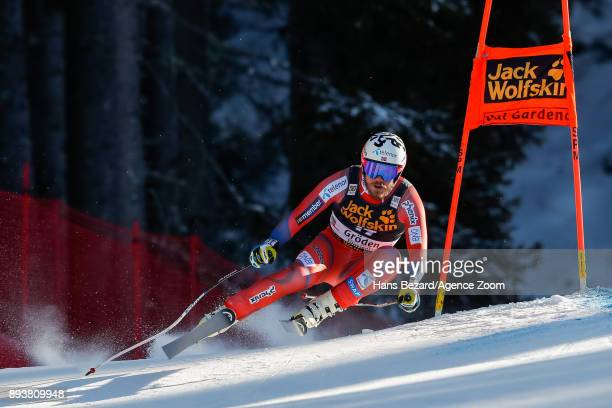 Kjetil Jansrud of Norway competes during the Audi FIS Alpine Ski World Cup Men's Downhill on December 16 2017 in Val Gardena Italy