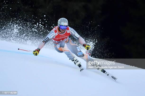 Kjetil Jansrud of Norway in action during the Audi FIS Alpine Ski World Cup Men's Downhill Training on January 31, 2020 in Garmisch-Partenkirchen,...