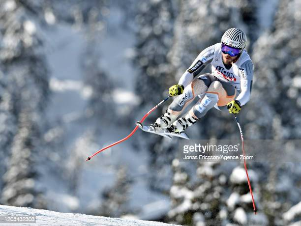 Kjetil Jansrud of Norway in action during the Audi FIS Alpine Ski World Cup Men's Downhill Training on March 6, 2020 in Kvitjell Norway.