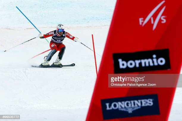 Kjetil Jansrud of Norway in action during the Audi FIS Alpine Ski World Cup Men's Combined on December 29 2017 in Bormio Italy