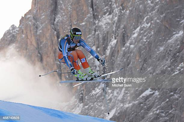 Kjetil Jansrud of Norway races down the course during the Audi FIS Alpine Ski World Cup Men's Downhill race on December 21 2013 in Val Gardena Italy