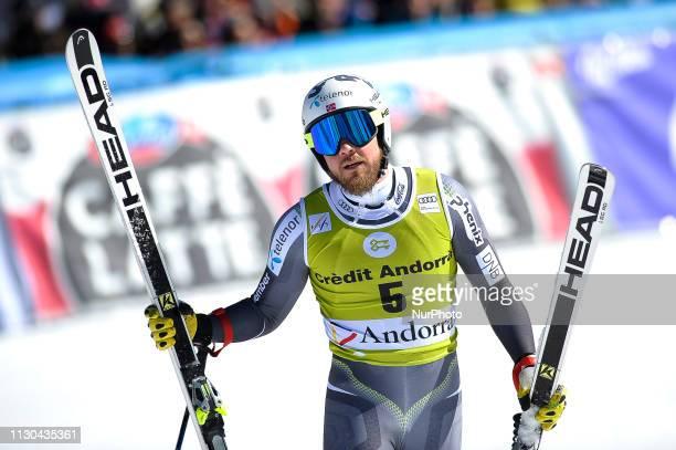 Kjetil Jansrud of Norway Ski Team during Mens SuperG Audi FIS Ski World Cup race on March 14 2019 in El Tarter Andorra