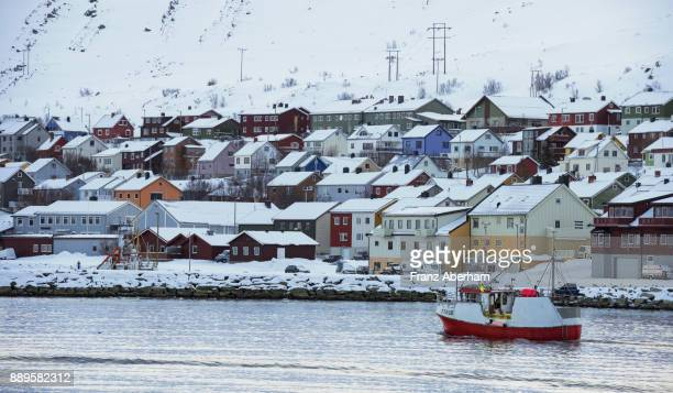 Kjollefjord, one of the most northern settlement and harbour in Europe, Finnmark, Norway