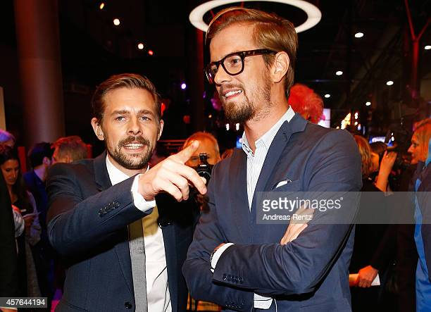 Klaas HeuferUmlauf and Joko Winterscheidt attend the 18th Annual German Comedy Awards at Coloneum on October 21 2014 in Cologne Germany The show will...