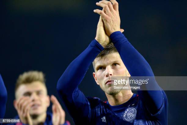 Klaas Jan Huntelaar of Ajax celebrate the victory during the Dutch Eredivisie match between NAC Breda v Ajax at the Rat Verlegh Stadium on November...