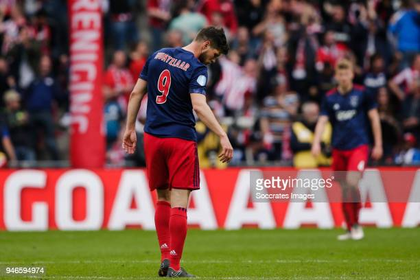 Klaas Jan Huntelaar of Ajax disappointed after the 30 during the Dutch Eredivisie match between PSV v Ajax at the Philips Stadium on April 15 2018 in...