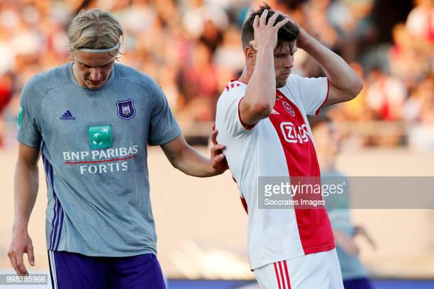 Klaas Jan Huntelaar of Ajax during the Club Friendly match between Ajax v Anderlecht at the Olympisch Stadion on July 13 2018 in Amsterdam Netherlands