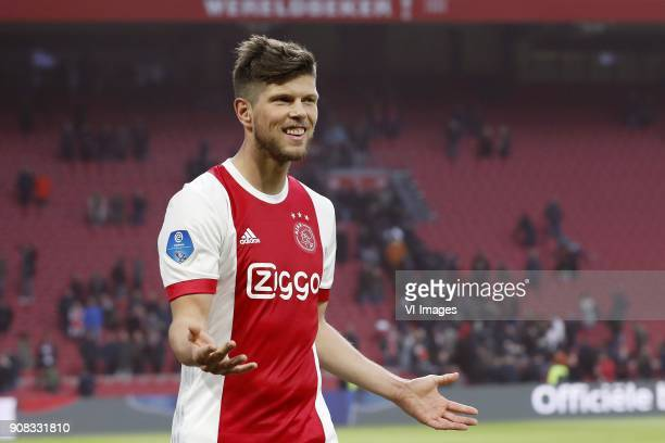 Klaas Jan Huntelaar of Ajax during the Dutch Eredivisie match between Ajax Amsterdam and Feyenoord Rotterdam at the Amsterdam Arena on January 21...