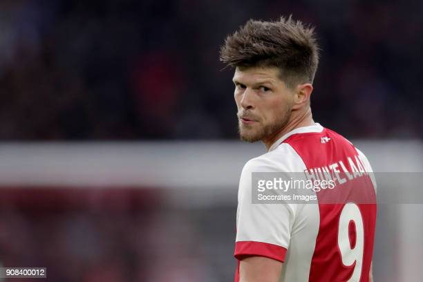 Klaas Jan Huntelaar of Ajax during the Dutch Eredivisie match between Ajax v Feyenoord at the Johan Cruijff Arena on January 21 2018 in Amsterdam