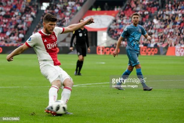 Klaas Jan Huntelaar of Ajax during the Dutch Eredivisie match between Ajax v Heracles Almelo at the Johan Cruijff Arena on April 8 2018 in Amsterdam...