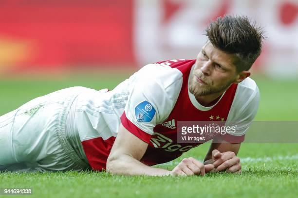 Klaas Jan Huntelaar of Ajax during the Dutch Eredivisie match between Ajax Amsterdam and Heracles Almelo at the Amsterdam Arena on April 08 2018 in...