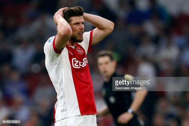 Klaas Jan Huntelaar of Ajax during the Dutch Eredivisie match between Ajax v VVVVenlo at the Johan Cruijff Arena on April 19 2018 in Amsterdam...