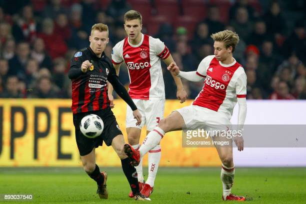 Klaas Jan Huntelaar of Ajax Joel Veltman of Ajax Frenkie de Jong of Ajax during the Dutch Eredivisie match between Ajax v Excelsior at the Johan...