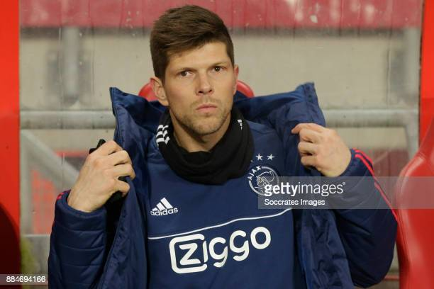 Klaas Jan Huntelaar of Ajax on bench during the Dutch Eredivisie match between Fc Twente v Ajax at the De Grolsch Veste on December 2 2017 in...