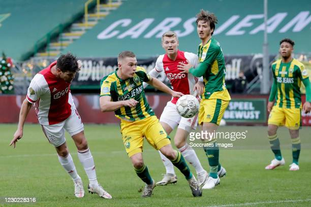 Klaas Jan Huntelaar of Ajax scores the second goal to make it 0-2 during the Dutch Eredivisie match between ADO Den Haag v Ajax at the Cars Jeans...