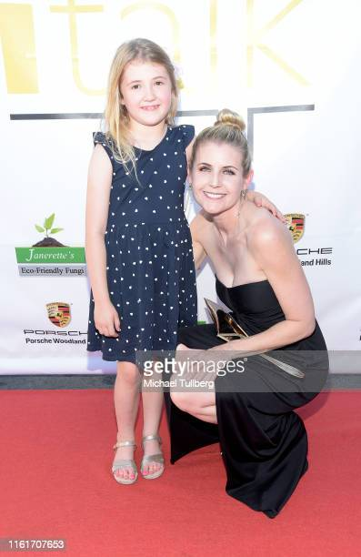 Klaire Milford and actress Kathy Kolla attends the debut of ITalk Events' Motivational Nightlife Platform on July 12 2019 in Woodland Hills California
