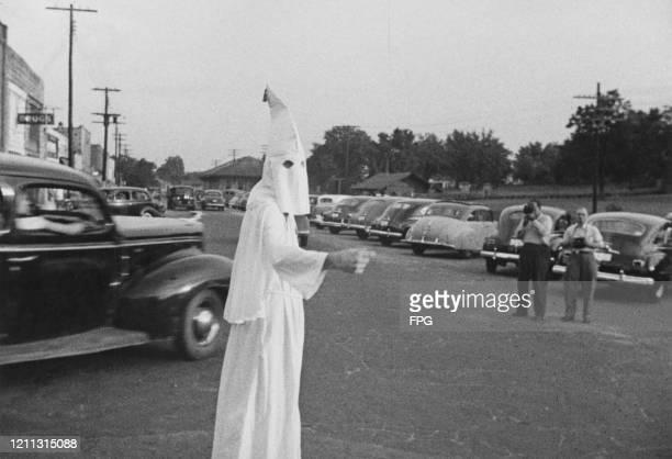 Klansman in Stone Mountain, Georgia, US, 1948.