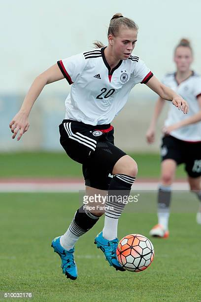 Klara Buhl of Germany during the match of the U16 Girl's Netherlands v U16 Girl's Germany UEFA Tournament on February 11 2016 in Vila Real de Santo...