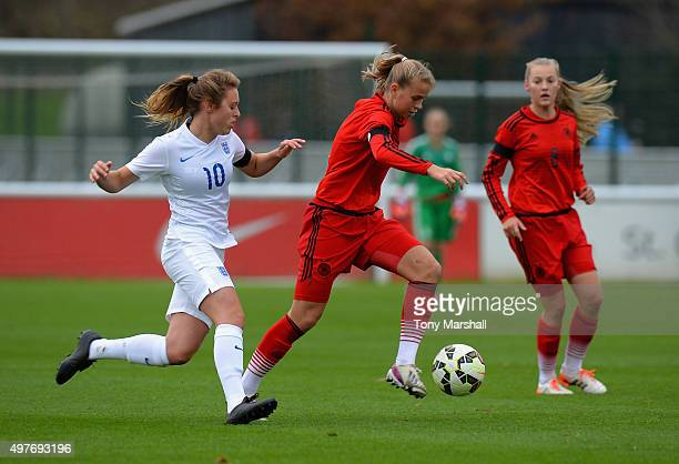 Klara Buhl of Germany during Women's U16s International Friendly match between England U16s Women and Germany U16s Women at St Georges Park on...