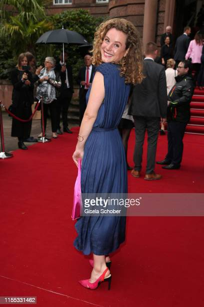 Klara Deutschmann during the opening of the Nibelungen Theatre Festival at St Peter's Cathedral on July 12 2019 in Worms Germany On the opening day...