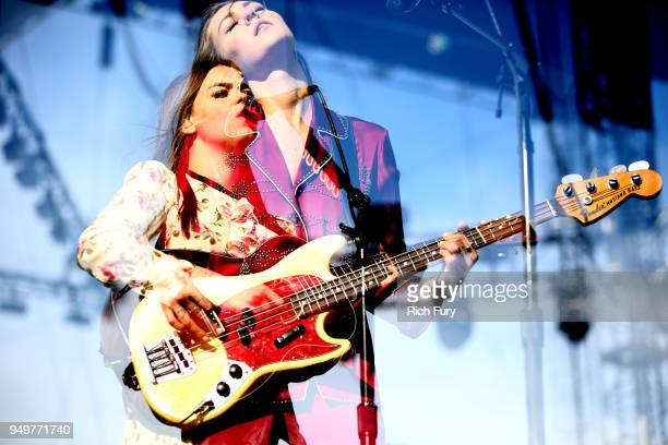 Klara Soderberg and Johanna Soderberg of First Aid Kit perform onstage during the 2018 Coachella Valley Music And Arts Festival at the Empire Polo...