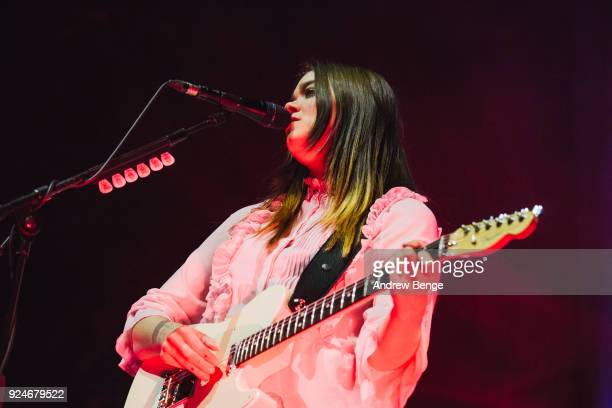 Klara Soederberg of First Aid Kit performs at Albert Hall on February 26 2018 in Manchester England