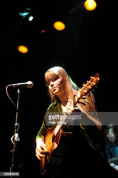 Klara Soederberg of Swedish indiepop duo First Aid Kit performs on stage at the Gebaeude 9 on February 14 2012 in Cologne Germany