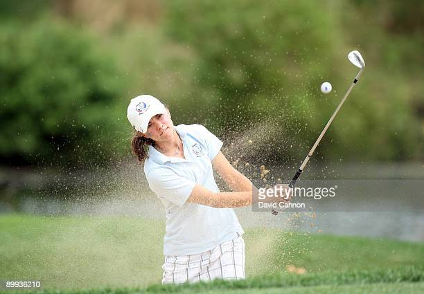 Klara Spilkova of the Czech Republic during the final day of the 2009 Junior Solheim Cup Matches at the Aurora Country Club on August 19 2009 in...