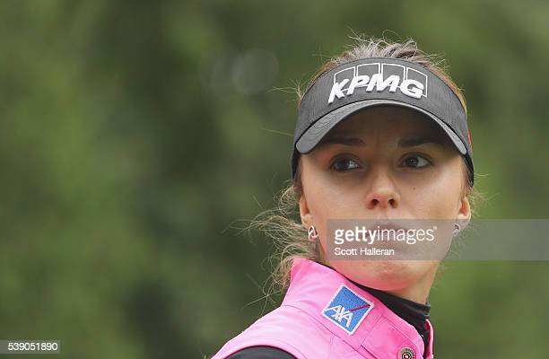 Klara Spilkova of the Czech Republic in action during the first round of the KPMG Women's PGA Championship at the Sahalee Country Club on June 9 2016...