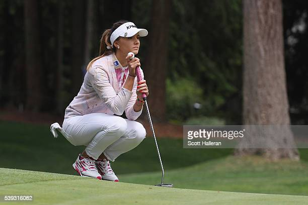 Klara Spilkova of the Czech Republic in action during the second round of the KPMG Women's PGA Championship at the Sahalee Country Club on June 10...