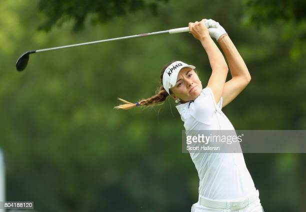 Klara Spilkova of the Czech Republic in action during the second round of the 2017 KPMG Women's PGA Championship at Olympia Fields Country Club on...