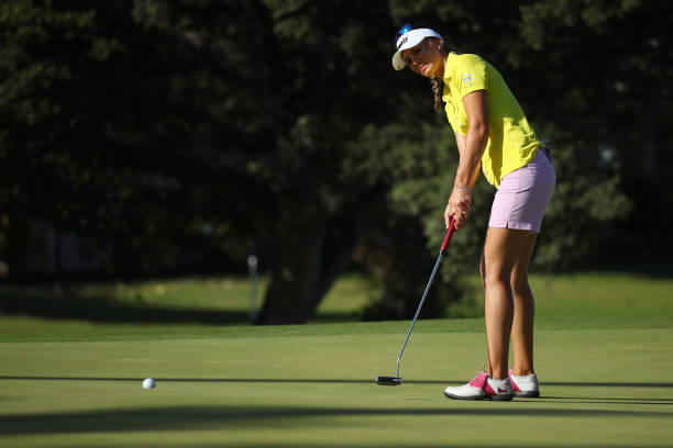 Klara Spilkova of the Czech Republic putts on the 12th green during the second round of the LOTTE Championship on April 19 2019 in Kapolei Hawaii