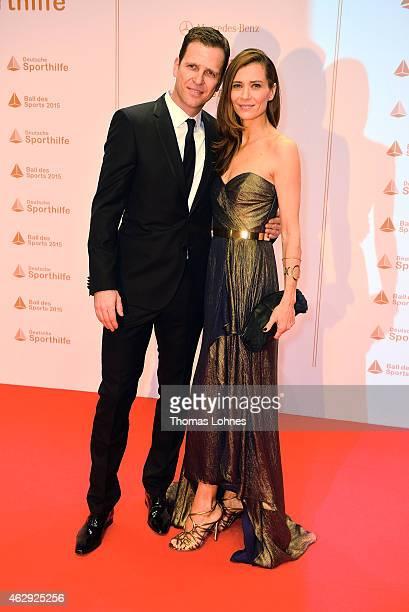 Klara Szalantzy and Oliver Bierhoff attend teh German Sports Gala 'Ball des Sports' on February 7, 2015 in Wiesbaden, Germany.