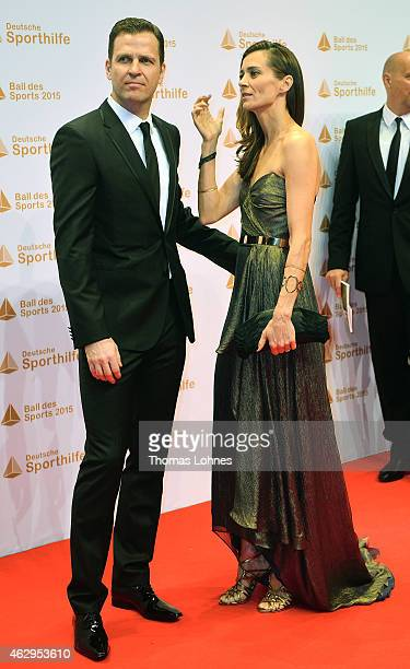 Klara Szalantzy and Oliver Bierhoff attend the German Sports Gala 'Ball des Sports' on February 7 2015 in Wiesbaden Germany